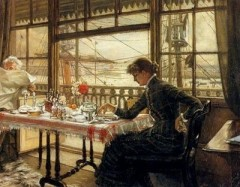 woman-reading-by-the-harbour-james-tissot